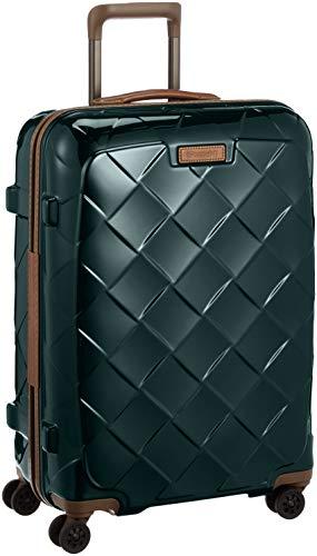 [ストラティック] スーツケース ジッパー レザー&モア グッドデザイン賞 静音双輪キャスター 保証付 65L 66 cm 3.43kg ダークグリーン