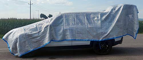 Callieway Aluminium Sonnenschutznetz/Hitzeschutz Sun-Flash inkl. 6 Spannbänder und Transportbeutel Orig Large (3,3m x 4,5m)