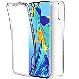 NewTop Cover Compatibile per Huawei P30/P30 Lite/P30 PRO, Custodia Crystal Case TPU Silicone PC Protezione 360° Fronte Retro (per P30)