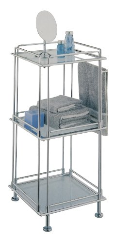 Organize It All 3-Tier Chrome Bathroom Supply Towel Storage