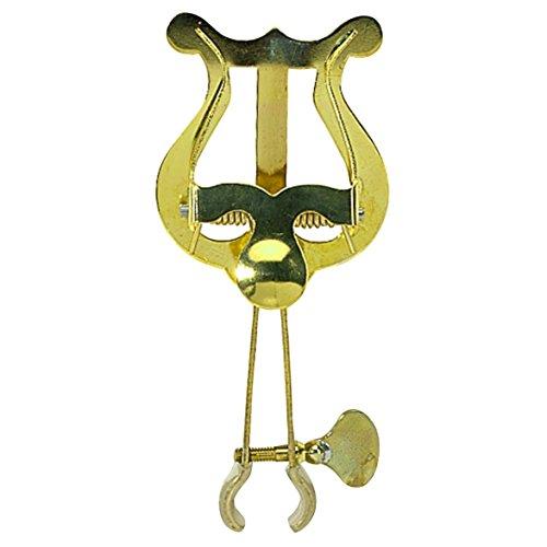 Gewa 730560 Marschnotenhalter Trompete kleine Lyra, 1 Drücker, Messing