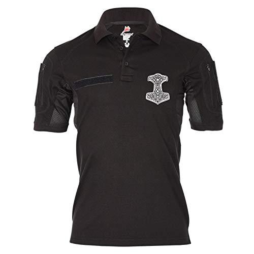 Copytec Tactical Poloshirt Alfa Thorshammer Vikings Donnergott Germanen #19368, Größe:XXL, Farbe:Schwarz