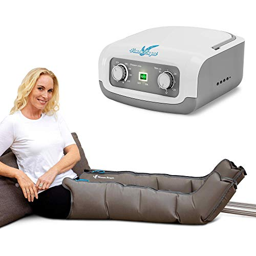 Vein Angel 4 Equipo de Presoterapia Profesional con botas para las piernas, 4 cámaras de aire, presión y tiempo fácilmente configurables