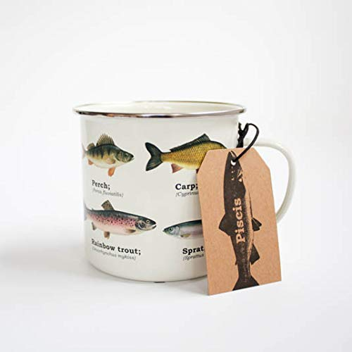 Ecologie Multi Species Fish Enamel Mug, Tin, White, One Size GR270027
