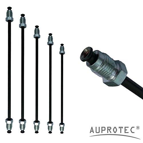 AUPROTEC Bremsleitung Ø 4,75 mm einbaufertig gebördelt (E) mit Nippel 160mm - 3050mm Auswahl: (Länge 900 mm Bördel E)