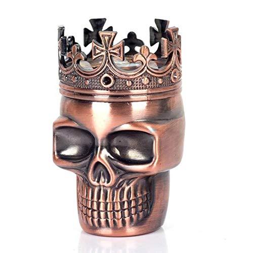 ZZQ/JK Santo Tabaco Grinder, Punk Fantasma Estilo De La Cabeza del Cráneo De Plástico A Base De Plantas De Tabaco Grinder Hierba, Moleta De La Mano Molinillos De Humo For Fumadores (Color : Re