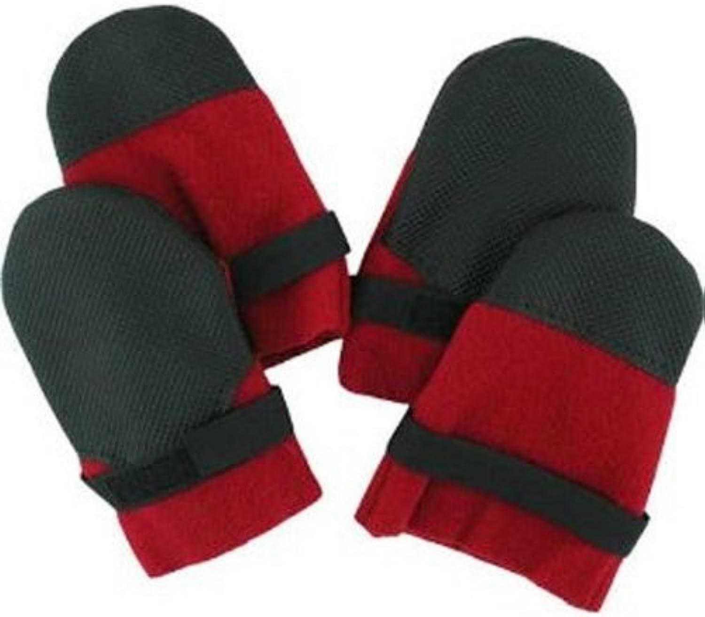 Muttluks Hott Doggers Lightweight Fleece Dog Boots, Extra Itty Bitty, Red, Set of 4 by Muttluks