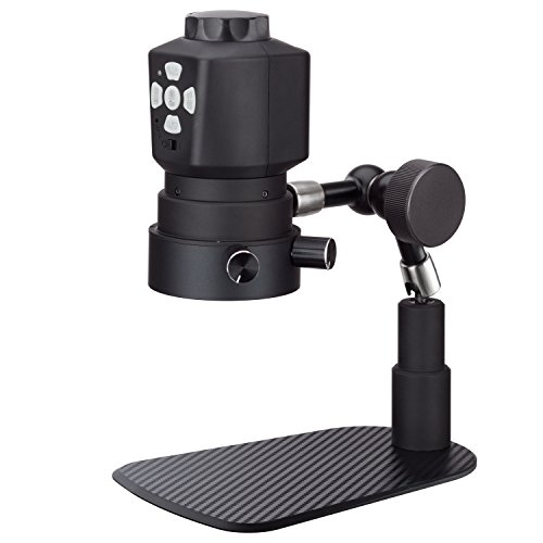 AmScope HDMI USB Microscope Digital Camera Set for Live View & Video Recording, Industry Set w/LED Ring Light and Articulating Arm