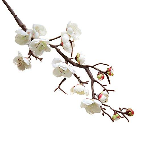 SUREH - 5 rami artificiali in plastica con fiori di ciliegio e fiori di pesca, fiori finti in seta, fiori di pesca, fiori, composizioni floreali, decorazioni per la casa, 5 pezzi