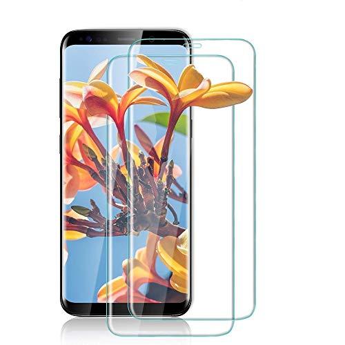 【2020年最新バージョン】Galaxy S8 ガラスフイルム 【日本製素材旭硝子製】最大硬度9H/高透過率/3D Touch対応/自動吸着/3Dラウンドエッジ加工/指紋防止/気泡ゼロ/貼り付け簡単【2枚セット】Galaxy S8 SCV36 SC-02J