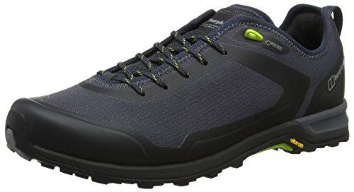 berghaus Herren Ft18 Gore-Tex Tech Shoe Trekking- & Wanderhalbschuhe, Grau (Carbon/Lime Bj9), 40.5 EU
