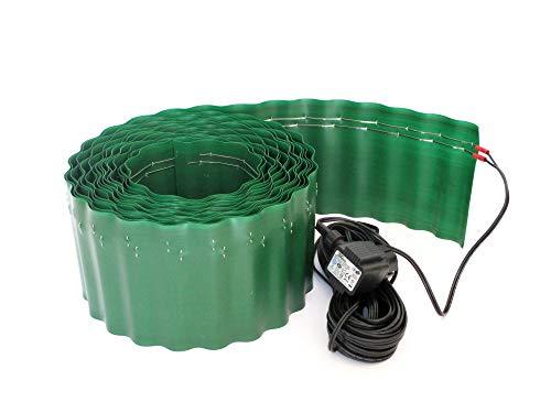 NV-Novum Vision Schneckenzaun-elektrisch, Schneckenzaun, Schneckenfalle, Schneckenabwehr, der Schneckenzaun mit Trafo schützt ihre Pflanzen 100% (10m Zaun).