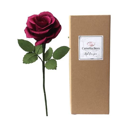 Paper Rose in Gift Box