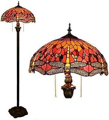 Tiffany - Lámpara de pie, diseño de Henley, 16 pulgadas, pintura ...