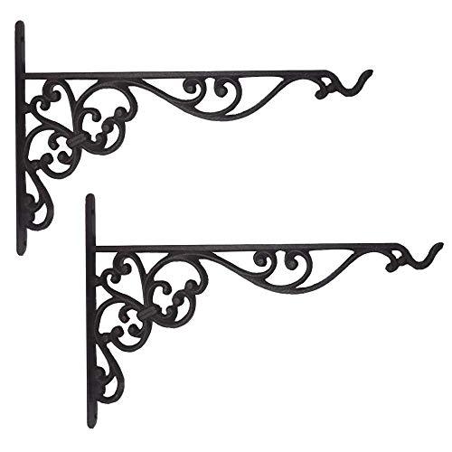 XIUYU Bodenträger Schwerlast, 90 Grad-Winkel-Wandregal Supporter-Klammer-Rahmen montiert, schwimmend Regale, Blume Regal Schwarz, 2-Pack, 35cmx24cm (Color : 35cmx24cm)