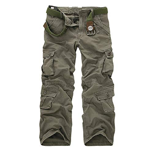 romantico Men Army Pants 2019 Men's Camo Cargo Pants Casual Combat Military Trousers Male Multi-Pockets Baggy Pant,Earth ArmyGreen,38