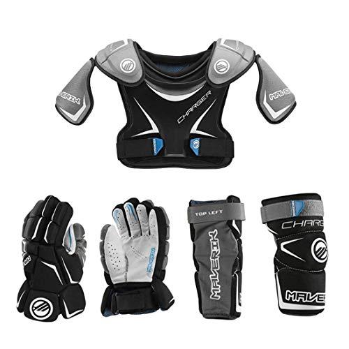 Lacrosse Unlimited Maverik Charger EKG Youth Starter Set (No Helmet Or Stick) (Youth Medium)