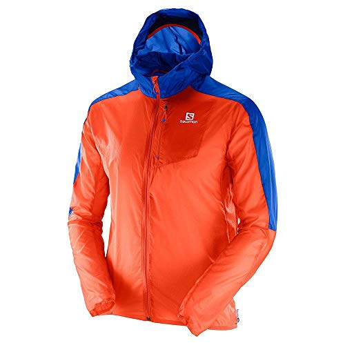 Salomon Fast Wing Hoodie - flame/surf the web