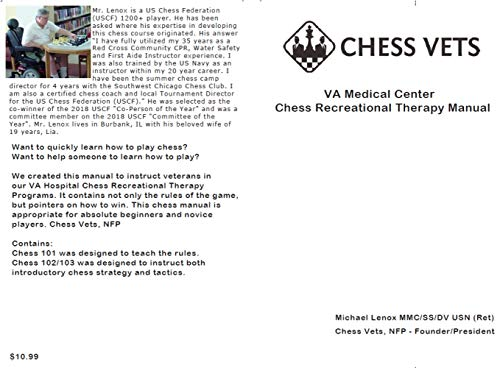 Chess Vets VA Chess Recreational Therapy Manual (English Edition)