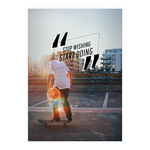 Kartenkaufrausch 1 Urbanes skater DIN A4 schoolschrift, schrijfschrift met skateboard motief, foto motief1 liniatuur 20 (blanco boekje)