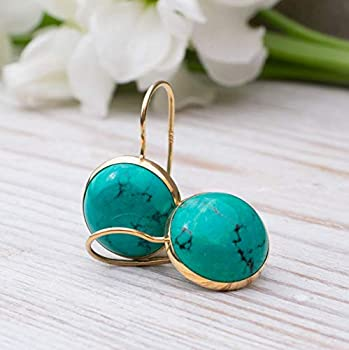 turquoise chandalier earrings