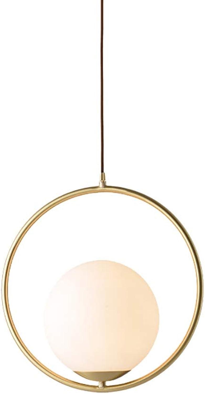 Postmoderne Glaskugel-Pendelleuchte, Mini Milk Weiß Glass Kronleuchter für Schlafzimmer Esszimmer Küche Loft Counter Bar Restaurants E27 Pendelleuchte, Gold