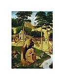 Hieronymus Bosch 'La tentación de San Antonio' Cuadros Decoracion Dormitorios Salon Decoración Pared Lienzos Decorativos Cuadros Decoracion Salon Vintage (30x42cm12x17pulgadas, sin marco)