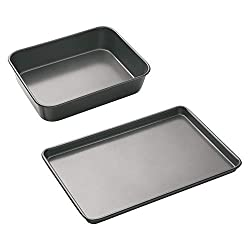 TRUSTED SINCE 1850: MasterClass's award-winning* bakeware is built to last for years, and boasts a 20 years guarantee (5 years non stick) TWO PIECE BAKING SET: equip yourself for daily cooking with this bundle, including a 34 x 26 cm roasting pan and...