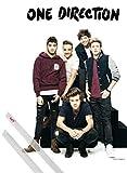 1art1 One Direction Poster (91x61 cm) Midnight Memories, Band Et Kit De Fixation Transparent