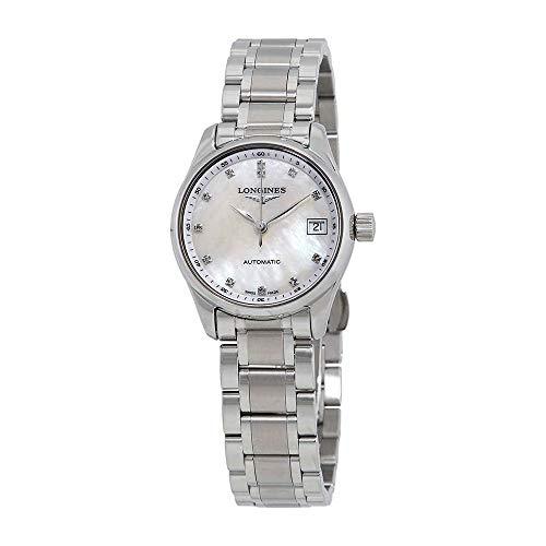 Longines Maestro automático madre de perla acero señoras reloj L2.128.4.87.6