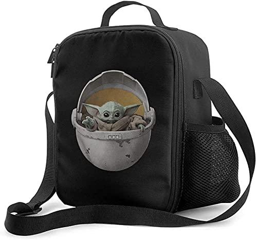 St-Ar W-Ar-S Master Yo-Da - Fiambrera con forro acolchado aislante, bolsa térmica térmica para el hombro, bolsa de almuerzo portátil para adultos y niños a la escuela, oficina al aire libre