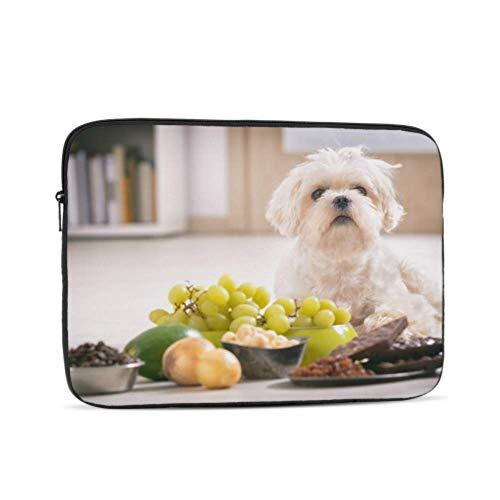 Laptop Sleeve Case 15 Inch Little White Maltese Dog Food Ingredients Laptop Sleeve/Notebook Computer Pocket Case/Tablet Briefcase Carrying Bag