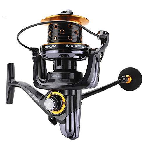 Carretes Pesca Carrete Pesca Metal TK8000-10000 14 + 1BB Long Shot fundición hilar la Carpa Agua Salada Surf Carrete Que Hace Girar 8000 Series 14
