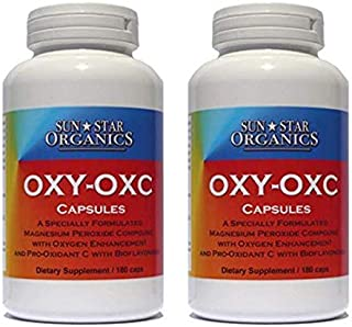 Oxy-OxC - Dietary Supplement - Magnesium and Vitamin C with Bioflavonoids - 180 caps 2 Pack