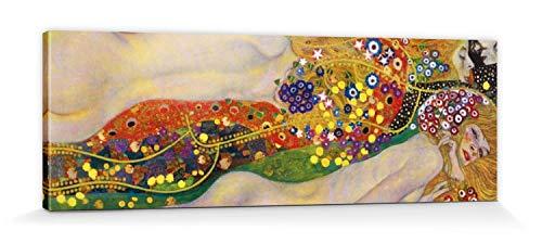 1art1 Gustav Klimt - Serpientes De Agua II, 1904-1907 Cuadro, Lienzo Montado sobre Bastidor (150 x 50cm)