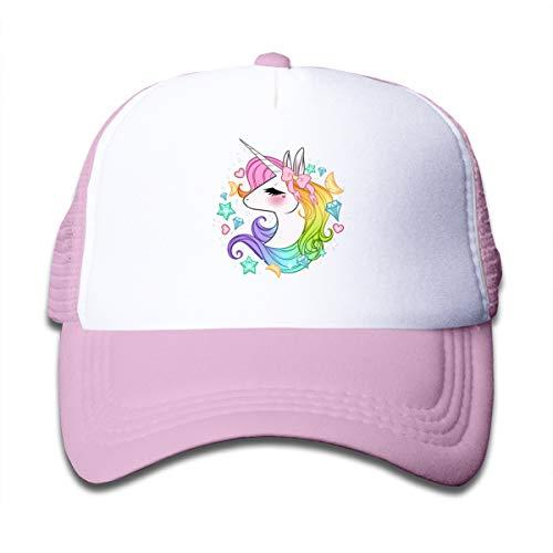 Waldeal Cute Unicorns Kids Mesh Cap Trucker Caps Hat Adjustable Pink