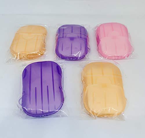 5 Cases Papier Zeep Clean Wash Hands Draagbare Mini Case Pocket Reizen 20 pc