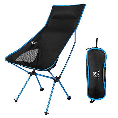 OUTAD Silla Plegable de Fácil Transporte para Camping/Playa/Pesca/Jardín (Azul Claro)