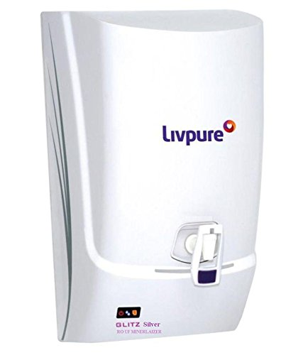 Livpure Glitz Silver RO+UF Mineralizer 7 Ltr RO Water Purifier