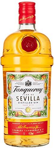 Tanqueray Flor De Sevilla Distilled Gin – Fruchtiger und mediterraner Gin mit bitter-süßem Orangenaroma – Ideale Spirituose für Cocktails oder Gin Tonic – 1 x 1L