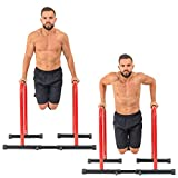 GoBeast Dip Stand with Stability Bar, Adjustable Height and Width, Easy Release Locking Pin, Max User Weight 330lbs / 150 kilograms