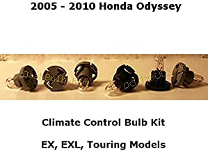 Compatible Dash Light Bulb Kit for Honda Odyssey (Set of 6 Bulbs) Heater A/C Climate Control