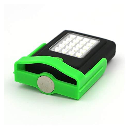 PHH Flashlight 2 Modos 20 + 3 LED Lámpara con Soporte De Trabajo Magnético Banco Plegable Lámpara Lantja Lanterna Lámpara De Antorcha Verde