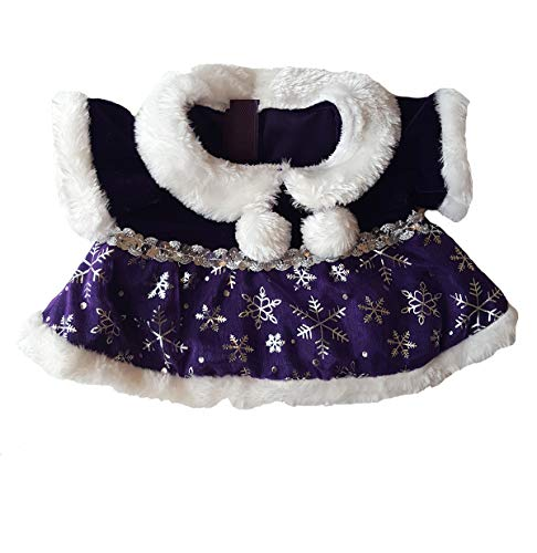 Purple Snowflake Dress Outfit Teddy Bear Clothes Fits Most 14' - 18' Build-a-bear and Make Your Own Stuffed Animals