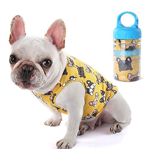 Biowlucn Summer Cooling Pet Clothes Outdoor Fat Dog Vest Shirt Clothes for Dogs Vest French Bulldog Clothing for Dogs Cooling Costume Pug