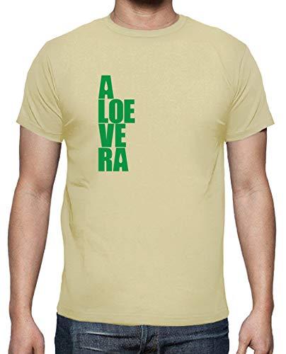 latostadora - Camiseta Aloe Vera - Guarde la para Hombre Crema XXL