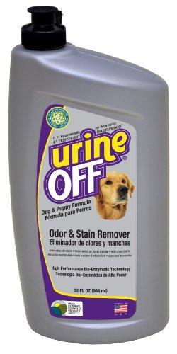 Orina Off olor y quitamanchas para perros y cachorros con alfombra Inyector Cap, 946ml
