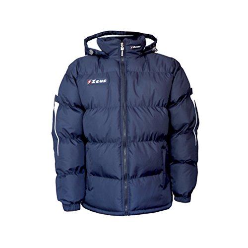 Zeus Rangers Jacke mit Kapuze für den Winter, Sport, Fußball, Entspannung, Jacke (blau-weiß, XXX-Large)