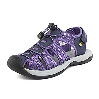 DREAM PAIRS Women's 160912-W-New Purple Adventurous Summer Outdoor Sandals Size 7.5 M US