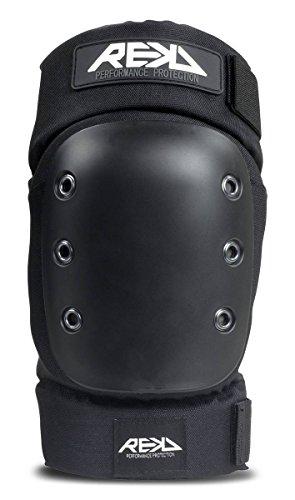 Rekd Pro Ramp Knee Pads für Skateboard, Unisex, Erwachsene M Schwarz (Black)